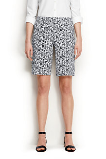 Women's  Mid Rise Patterned Bermuda Shorts