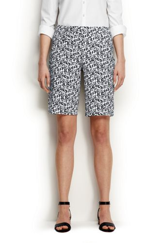 Women's Regular Mid Rise Patterned Bermuda Shorts