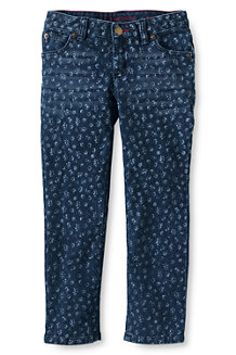 Girls' Patterned Ankle Skimmer Jeans