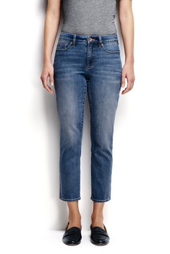 Women's Regular Mid Rise Slim Leg Cropped Jeans