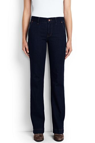 Women's Mid Rise Trouser Jeans from Lands' End
