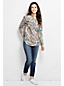 Women's Regular Long Sleeve Patterned Cotton Popover Tunic