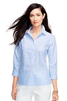 Women's Three Quarter Sleeve Patterned Supima® Non iron Shirt