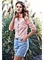 La Chemise Oxford à Motifs et à Manches Longues Femme, Taille Standard