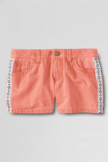 Girls' 5-Pocket Twill Shorts