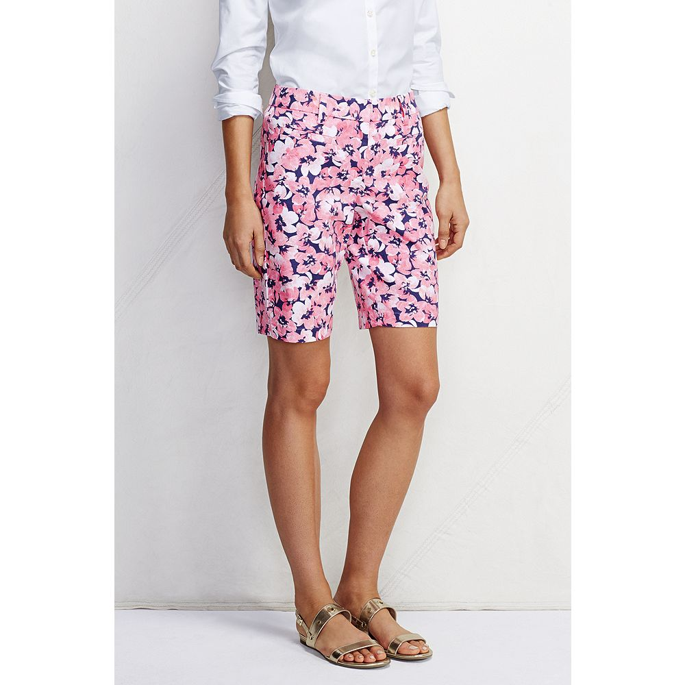 "Lands' End Women's Fit 2 10"" Dobby Chino Shorts - Print at Sears.com"