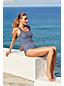 Komfort-Badeanzug Gestreift in Plusgröße