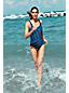 Le Maillot de bain une pièce rayé Sans Coutures Femme, Taille Standard
