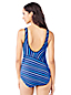 Women's Regular Tugless Soft Cup Mastectomy Striped Swimsuit