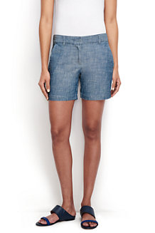 Women's Low Rise Chambray Shorts