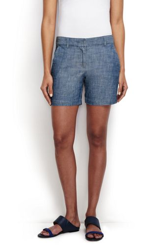 Le Short Chambray Femme, Taille Standard