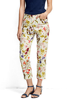 Women's Printed Cropped Chinos
