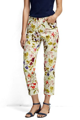 Women's Regular Printed Cropped Chinos