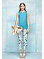 Le Pantacourt Chino à Motifs Femme, Taille Standard