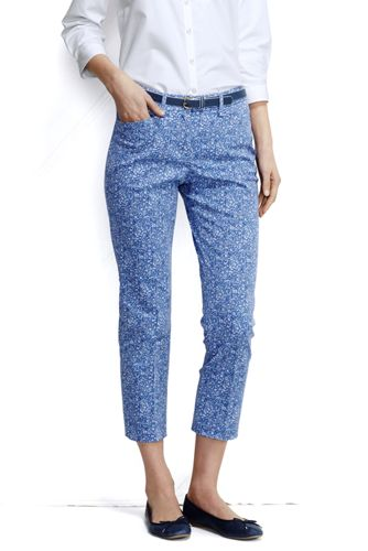 Women's Regular Patterned Cropped Chino
