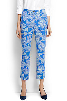 Women's  Patterned Cropped Chino