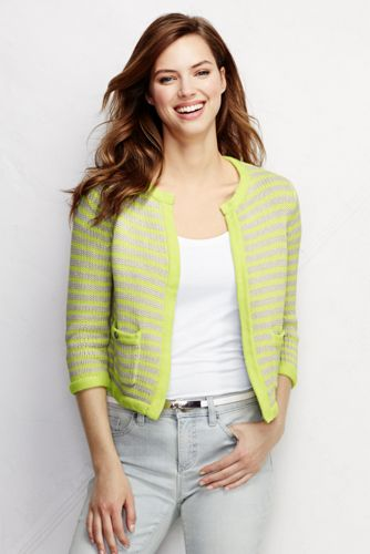 Women's Drifter Cropped Jacket Sweater from Lands' End