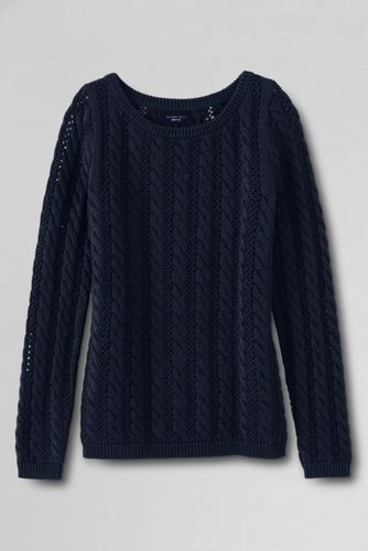 Women's Drifter Pointelle Cable Boatneck Sweater