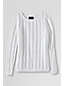 Le Pull Drifter Pointelle en Maille Col Bateau Femme, Taille Standard