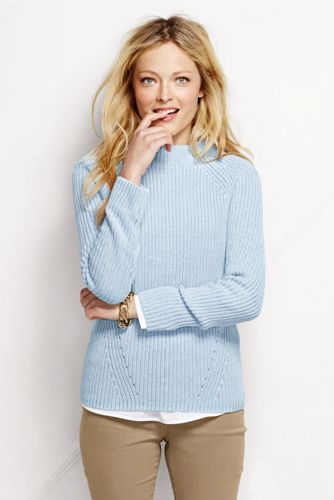 Women's Regular Cotton Shaker Funnel Neck Jumper