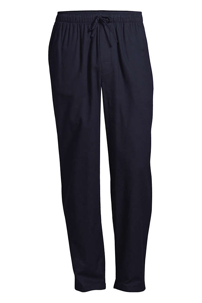 Men's Big Flannel Pajama Pants, Front