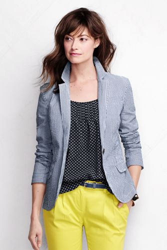 Women's Regular Seersucker Blazer