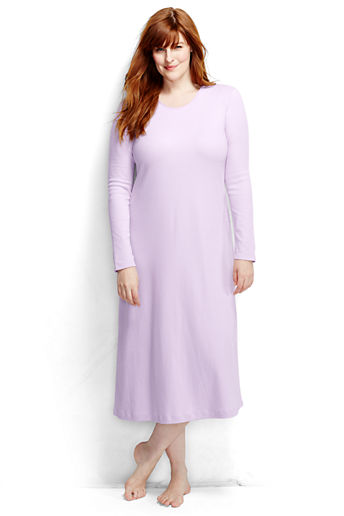 18bbf2b64d Women s Plus Size Long Sleeve Midcalf Nightgown - Pale Lilac