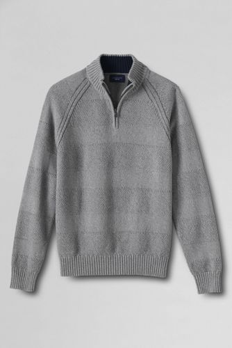 Men's Regular Drifter™ Textured Stripe Zip Neck Sweater