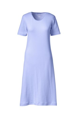 Women's Regular Short Sleeve Knee length Plain Sleep-T™