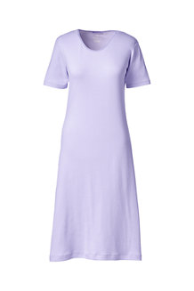 Women's Short Sleeve Knee length Plain Sleep-T™