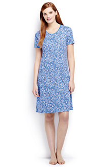 Women's Short Sleeve Knee-length Patterned Sleep-T™