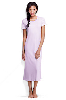 Women's Short Sleeve Mid-calf Plain Sleep-T™