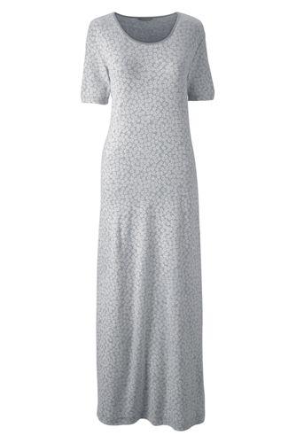 Women's Regular Short Sleeve Mid-calf Patterned Sleep-T™