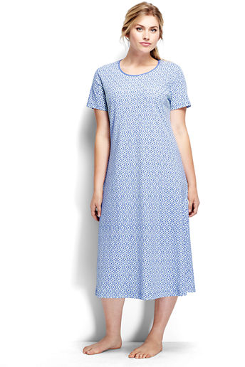 9362926dfc ... Women s Plus Size Short Sleeve Midcalf Nightgown - Medium French Blue  Geo