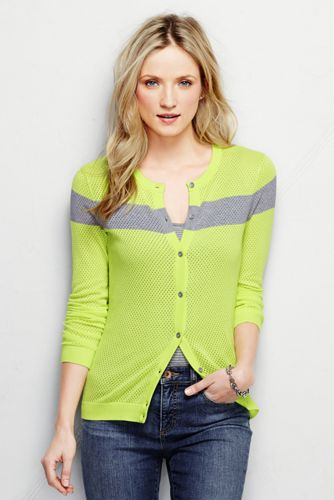 Women's Regular Mesh Fine Gauge Supima® Cardigan