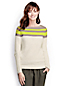 Women's Petite Linen/Cotton Colourblock Boatneck Jumper