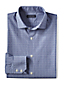 Men's Tailored Fit Dobby Check Spread Collar Shirt