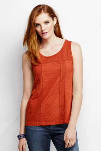 Le T-shirt Broderie Anglaise Femme, Taille Standard