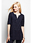 Women's Regular Slub Jersey Dotty Print Tunic