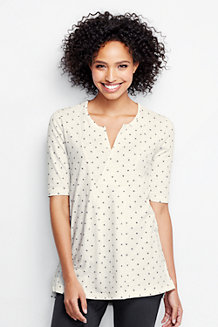 Women's Slub Jersey Dotty Print Tunic