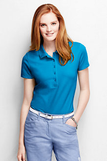 Women's Short Sleeve Pique Polo Shirt Slim Fit