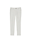 Women's Mid Rise Slim Leg  White Cropped  Jeans