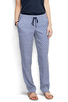 Women's Woven Print Soft Trousers