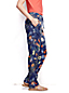 Women's Regular Woven Print Soft Trousers