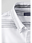 Men's Regular Long Sleeve Patterned Sail Rigger Oxford Shirt Slim Fit
