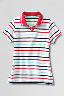 Girls' Short Sleeve Tipped Collar Piqué Polo