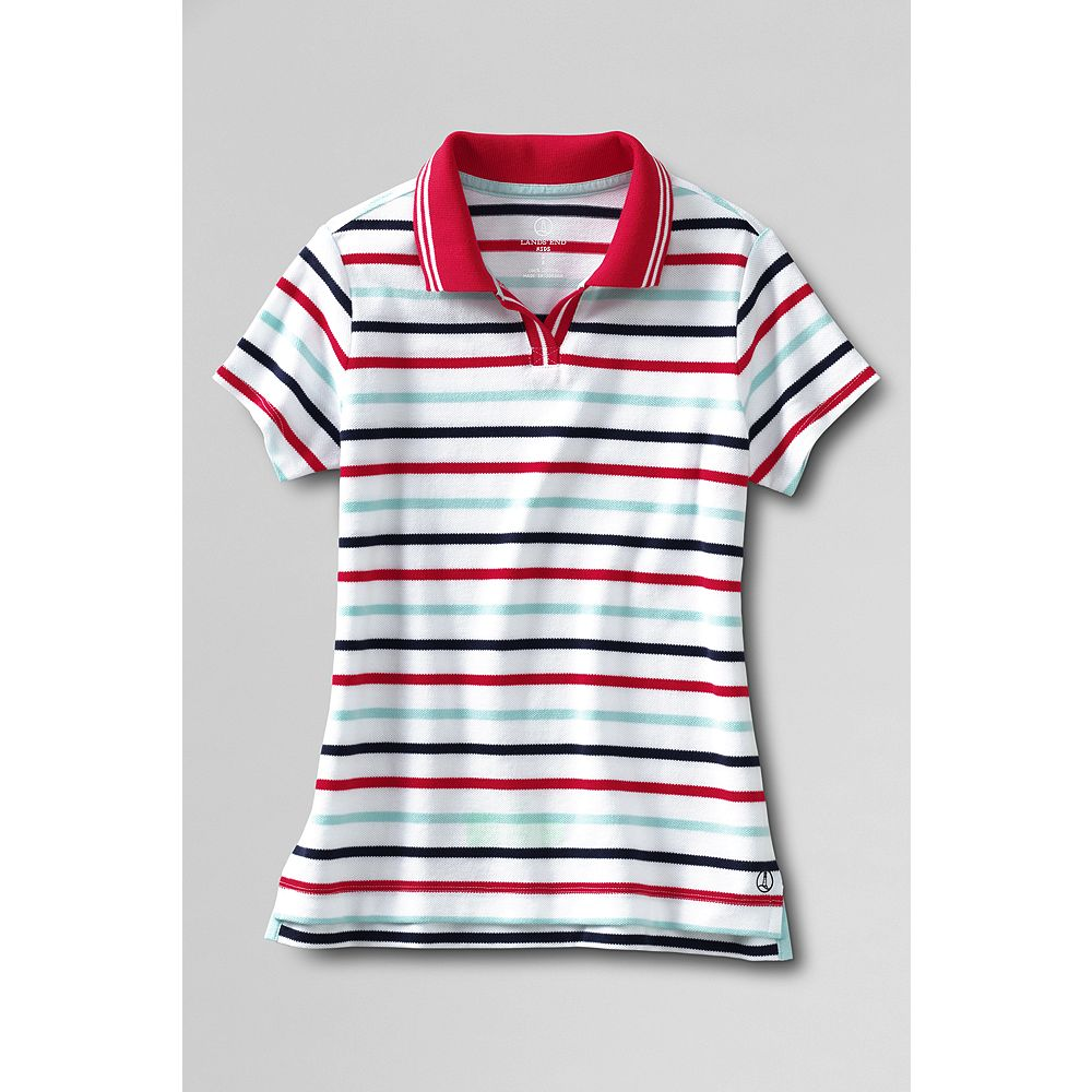 Lands' End Girls' Short Sleeve Tipped Polo Shirt at Sears.com