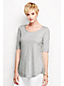 Women's Regular Scoop Neck Longline Top
