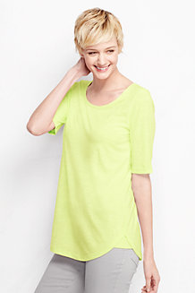 Women's Scoop Neck Longline Top