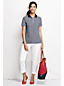 Women's Regular Classic Fit Short Sleeve Tipped Collar Printed Polo Shirt